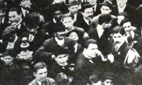 Detalle de uno de los actos obreros – estudiantiles en la Plaza Vélez Sarsfield  de Córdoba, agosto de 1918